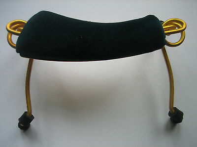 De Luxe 1/2 size VIOLIN Shoulder Rest (Padded DARK GREEN VELVET) ~Shop Clearance