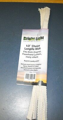 "Bright Light 1/2"" Replacement Wick Dietz Original Feuerhand 5 Pcs 12"" Long"