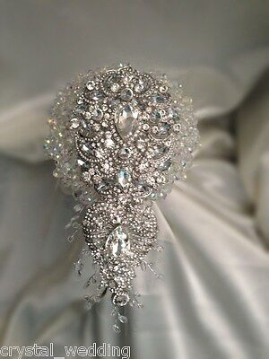 Crystal Sensational Wedding brides brooch Bouquet