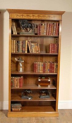 Regency Satinwood Inlay Open Bookcase Sheraton Bookcases
