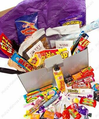 Kids 'Thank You' Large Retro Sweets Gift Box Hamper, Teacher, Dinner Lady Etc