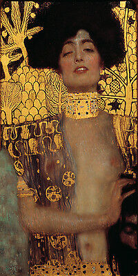 Oil painting Gustav Klimt - Judith and the Head of Holofernes on canvas