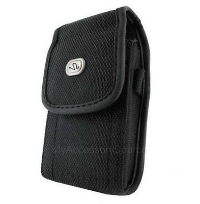 Heavy Duty Canvas Nylon Vertical Phone Case Pouch Belt Clip Carrying Holster LG