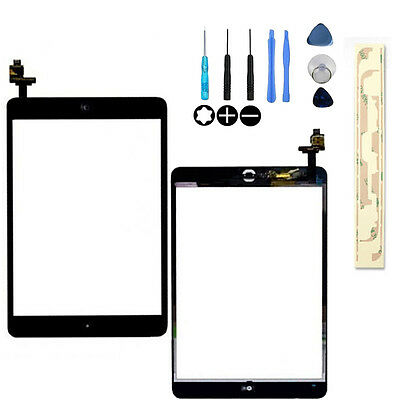 Black Touch  Digitizer Front Glass compatible with IPAD MINI 1/2  Replacement