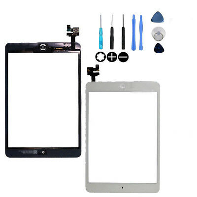 White Touch Screen Digitizer Front Glass Lens Apple IPAD MINI Panel Replacement