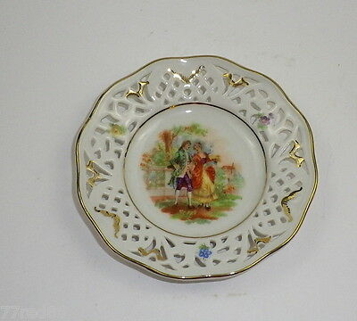 Vintage Schumann Courting Couple Ceramic Pin Dish