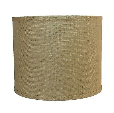 """Urbanest Burlap Drum Style Lamp Shade 12""""x12""""x10"""" Lampshade Spider Fitter"""