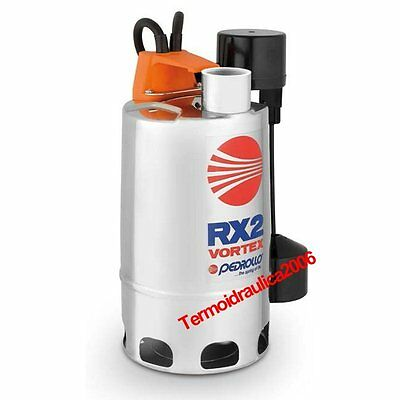 VORTEX Submersible Pump Dirty Water RXm2/20GM 0,5Hp 230V 50Hz 5M RX Pedrollo