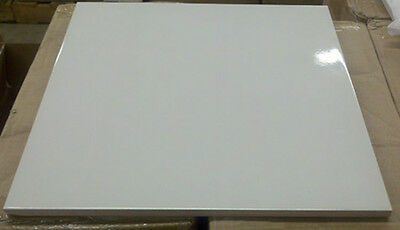 """Case Of 16 White Ceramic Sublimation Tiles 12"""" x 12"""" Glossy #58121"""
