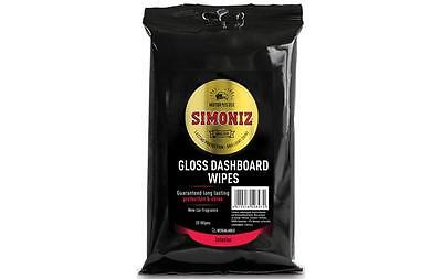 Simoniz Car Interior Dashboard New Car Scent Cleaning Wipes - Pack of 20 - Gloss