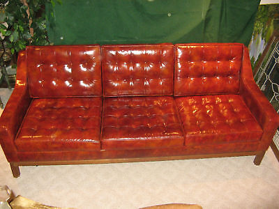 ***WOW*** Jens Risom Museum Quality Leather Couch *NICE