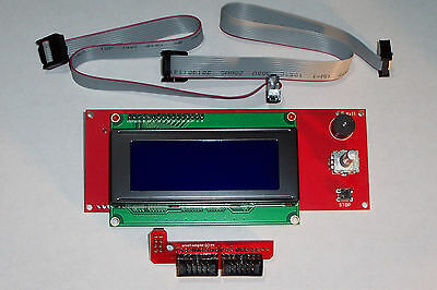 V1.4 Lcd 2004 Smart Display Controller With Adapter  & Cables For Ramps 1.4 Usa