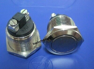 19mm Waterproof Momentary Stainless Steel Metal Push button Switch normal open