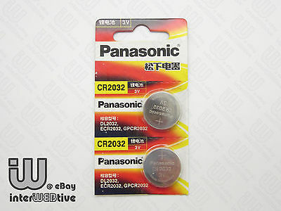 2 Pieces New in Package Panasonic CR2032 2032 ECR2032 Coin Cell Battery 3V