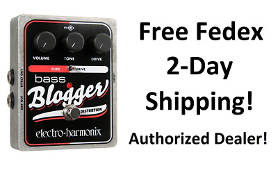 New Electro-Harmonix EHX Bass Blogger Distortion/Overdrive Bass Effects Pedal!