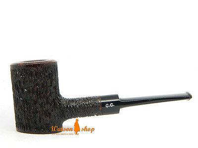 Briar Tobacco Smoking pipe - POKER - Rusticated, Self-Standing + Pouch by G.G.