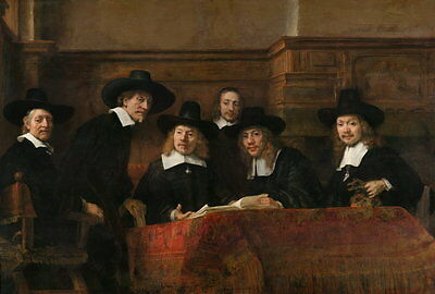 Oil painting Netherlands Rembrandt - Sampling Officials of the Drapers' Guild