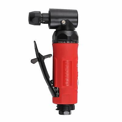 "Angle Air Die Grinder | 1/4"" Pneumatic Industrial Cutting Tool Swivel Exhaust"