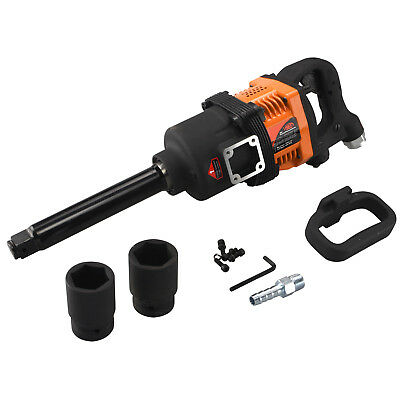 "Industrial Air Impact Wrench | 1"" Pneumatic Compressor Long Shank 1,900 ft/lb"