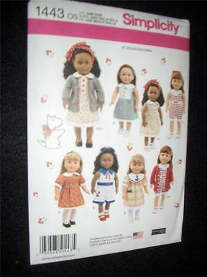 """18"""" DOLL American Girl NEW Simplicity 1443 Heigl Pattern Summer Clothes"""