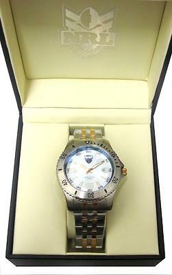 85064 Penrith Panthers Nrl 2 Tone Limited Edition Mens Wrist Watch In Gift Box