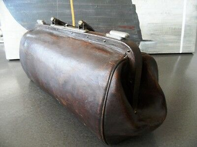 Antique Authentic Doctor's Bag Quality Genuine Leather  Inside & Outside 1930s