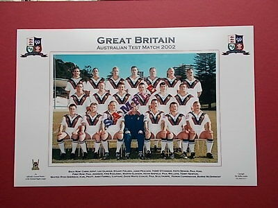 Rugby League Photo - Great Britain Australian Test Match 2002