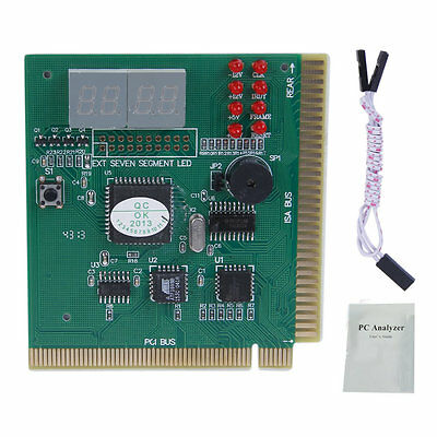 PCI PC Diagnostic Analyzer 4 Digit Card Motherboard Post Tester