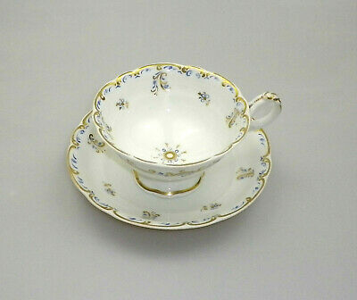 Antique Staffordshire Hand Painted Tea Cup and Saucer