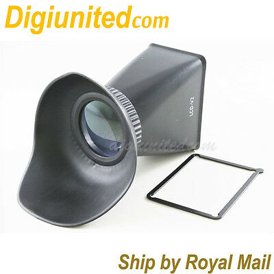 """3"""" LCD Viewfinder Extender 2.8x for Canon EOS 60D 600D DSLR camera 3:2 screen"""