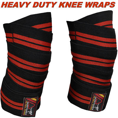 HEAVY DUTY KNEE WRAPS WEIGHT LIFTING POWER LIFTING/BODYBUILDING GYM  STRAPS 4m