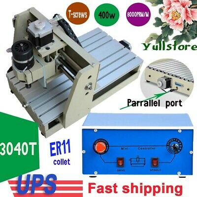 NEW DIY CNC Router 400W 3 Axis Wood Carving Engraving Machine PCB Milling