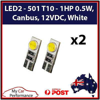 2x T10 W5W 1 SMD 5050 194 168 LED Canbus Car Side Wedge Tail Light Lamp Bulb
