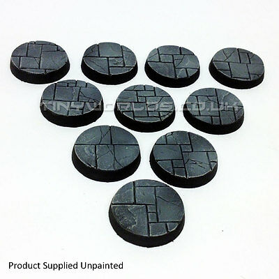25mm Round Paved Dungeon / Temple Scenic Resin Bases Warhammer 40K