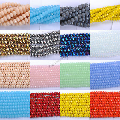 Lots Top Quality Czech Crystal Faceted Rondelle Charms Spacer Beads 6MM 8MM 10MM