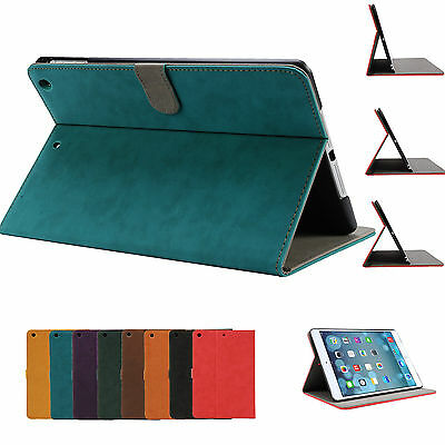 Classic Pu Leather Smart Cover Case for Apple iPad 6th Gen iPad 4 3 2 mini Air