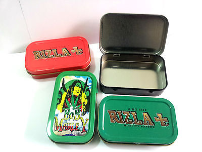 RIZLA TOBACCO TIN 1oz + 2 BOOKLET OF RIZLA PAPER **VARIOUS DESIGNS AVAILABLE**