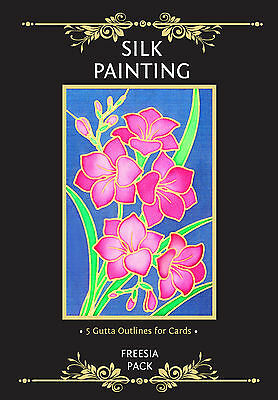 Silkcraft Silk Painting Gutta Outlines - Card Making - Freesia Pack (Pack of 5)