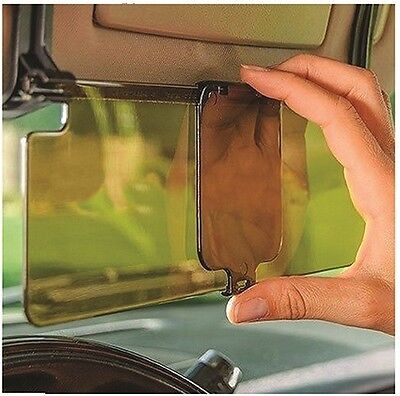 Clip on Car & Van Tinted Anti Dazzle Glare Block Shade Sun Visor Extension Kit