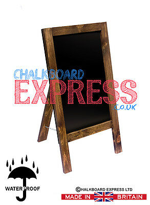 Waterproofed Chalkboard Menu Board Pavement Display Sign Oak 800mm x 410mm