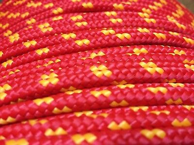 5mm Braided Polypropylene Poly Rope 100% Sailing Yacht Boat Various Colours