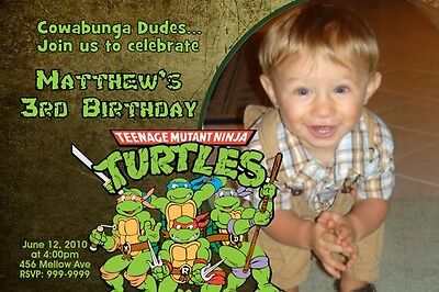 Teenage Mutant Ninja Turtles Birthday Invitation Printable Pdf Jpeg