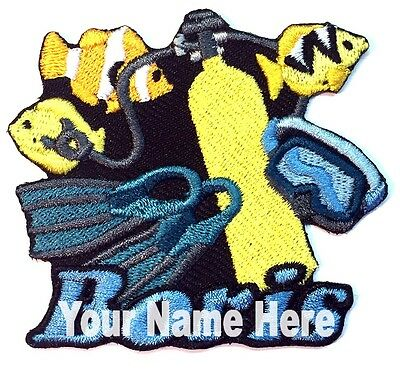 Scuba Diving Custom Iron-on Patch With Name Personalized Free