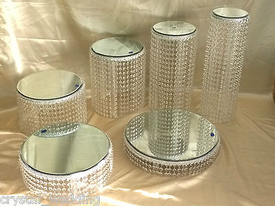 Crystal Chandelier style cake stands Diamante effect  full set of 6 tiers