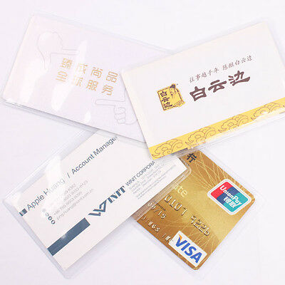 10 Clear Plastic Card Sets Transparent Card Protector Credit Card ID Card Holder