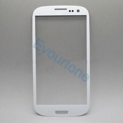 New Front Outer Screen Glass Lens for Samsung Galaxy SIII S3 i9300 White + Tools