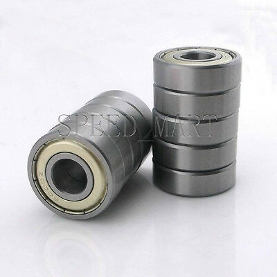 10PCS 6005ZZ Deep Groove Metal Double Shielded Ball Bearing (25mm*47mm*12mm)