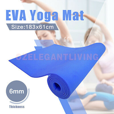 New Exercise Yoga Mat Pilates Home Gym 6Mm/10Mm Thick Physio Fitness Eva/nbr