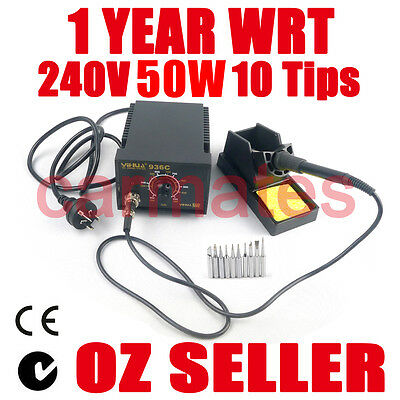 FOR Yihua Soldering Iron Station 50W Lead Free 10 tips CE RoHS ESD Safe 240