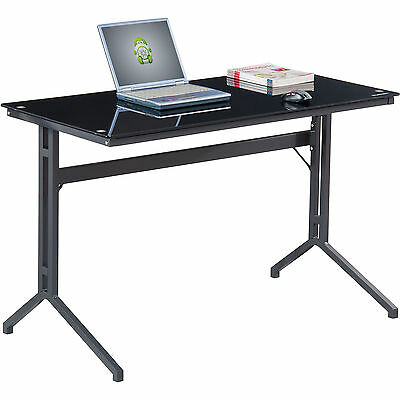 Home & Office Furniture Quality Black Tough Glass Laptop Table by Piranha PC17bg